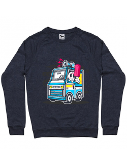 Bluza ADLER barbat Ice Cream Truck Denim inchis