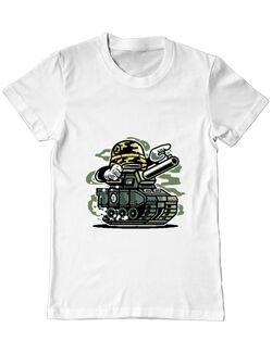 Tricou ADLER barbat War Tank Alb