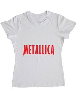 Tricou ADLER dama Metallica 2 Alb