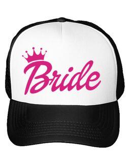 Sapca personalizata Mireasa Barbie Bride Alb