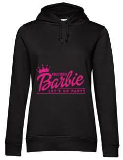 Hoodie Petrecerea burlacitelor B&C Come on Barbie Negru