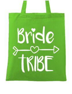 Sacosa personalizata Petrecerea burlacitelor Bride tribe Verde
