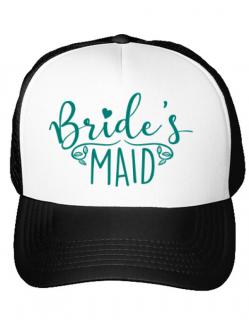 Sapca personalizata Brides maid Alb
