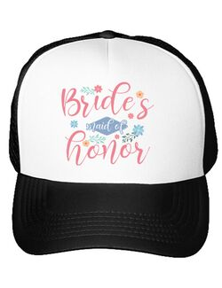 Sapca personalizata Petrecerea burlacitelor Brides maid of honor Alb