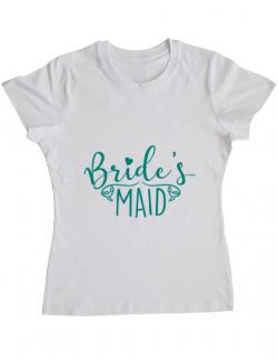 Tricou ADLER dama Brides maid Alb