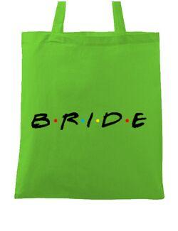 Sacosa personalizata Mireasa Bride friends Verde