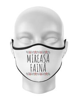 Masca personalizata reutilizabila Mireasa faina Alb