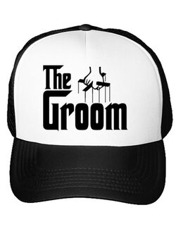 Sapca personalizata Mire The groom Alb
