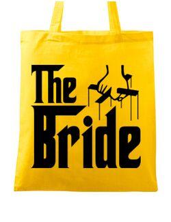 Sacosa personalizata Mireasa The bride Galben