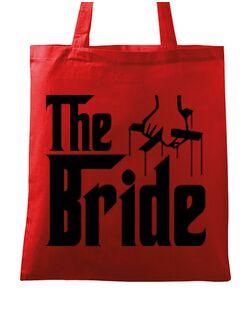 Sacosa personalizata Mireasa The bride Rosu