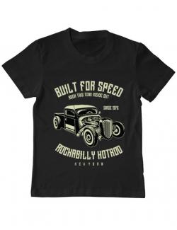 Tricou ADLER copil Built For Speed Negru