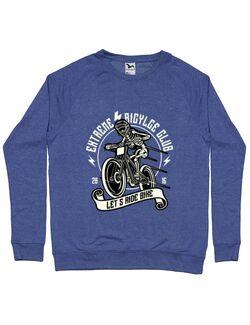 Bluza ADLER barbat Lets Ride Bike Albastru melanj