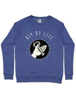 Bluza ADLER barbat Key Of Life Albastru melanj