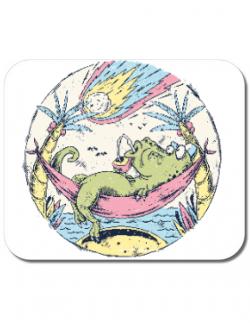 Mousepad personalizat Asteroid Day Alb