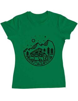 Tricou ADLER dama Go Outdoor Verde mediu