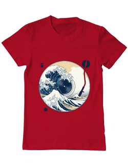 Tricou ADLER barbat The Great Wave off Sound Rosu