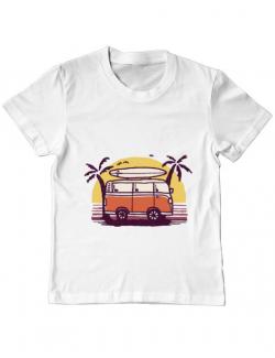 Tricou ADLER copil Sunset Van Alb