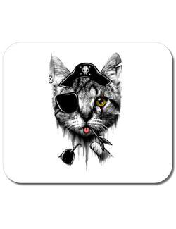 Mousepad personalizat Piratecat Alb