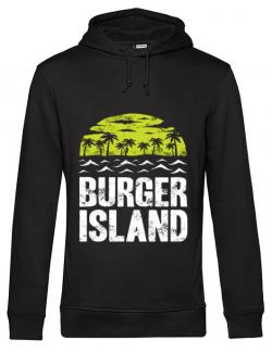 Hoodie barbat cu gluga Burger island Negru