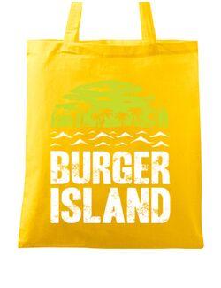 Sacosa din panza Burger island Galben