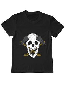 Tricou ADLER copil Skull Axe Negru