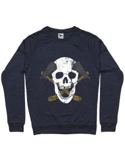 Bluza ADLER barbat Skull Axe Denim inchis