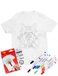 Tricou de colorat Keep smiling SET