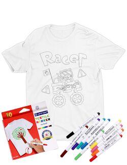 Tricou de colorat Racer