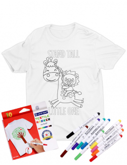 Tricou de colorat Stand tall little one SET