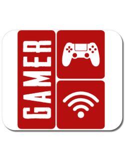 Mousepad personalizat Gamer Alb