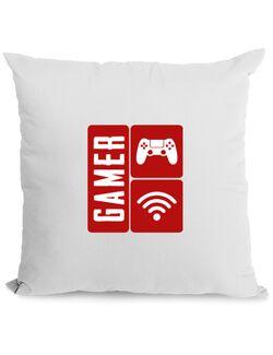 Perna personalizata Gamer Alb