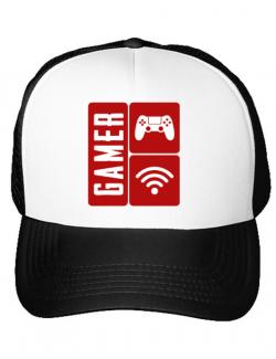 Sapca personalizata Gamer Alb
