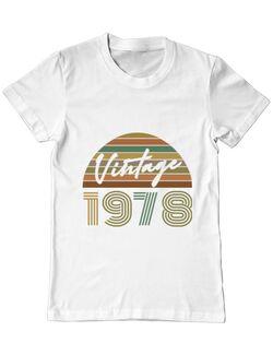 Tricou ADLER barbat Vintage 1978 Alb