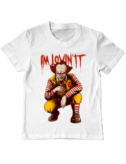 Tricou ADLER copil I'm Lovin IT Alb