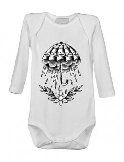 Baby body Umbrella Tattoo Alb