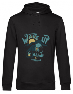Hoodie barbat cu gluga Wake up and drink a coffee Negru