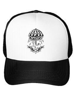 Sapca personalizata Umbrella Tattoo Alb