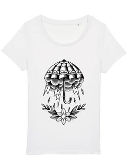 Tricou STANLEY STELLA dama Umbrella Tattoo Alb