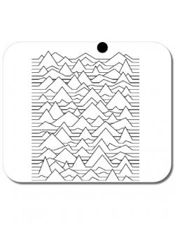 Mousepad personalizat Mountains Alb