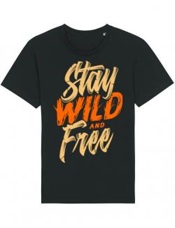 Tricou STANLEY STELLA barbat Stay Wild and Free Negru
