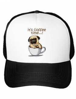 Sapca personalizata Its Coffee Time Alb
