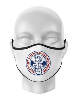 Masca personalizata reutilizabila SUPPORT YOUR LOCAL HOOKERS Alb