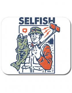 Mousepad personalizat SELFISH Alb