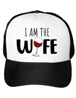 Sapca personalizata I am the wife Alb