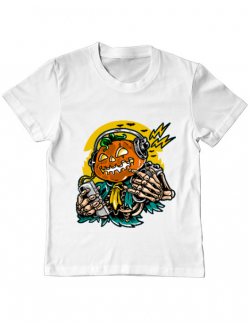 Tricou ADLER copil Pumpkin Music Alb