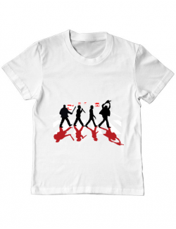 Tricou ADLER copil Abbey road killer Alb