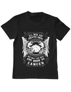 Tricou ADLER copil The best men are born as Cancer Negru