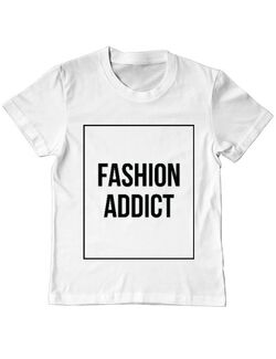 Tricou ADLER copil Fashion addict Alb