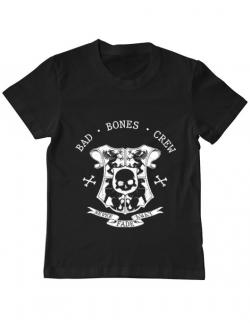 Tricou ADLER copil Bad bones crew crest Negru