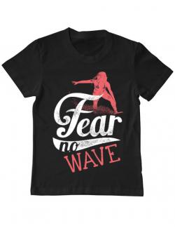 Tricou ADLER copil Fear no wave Negru